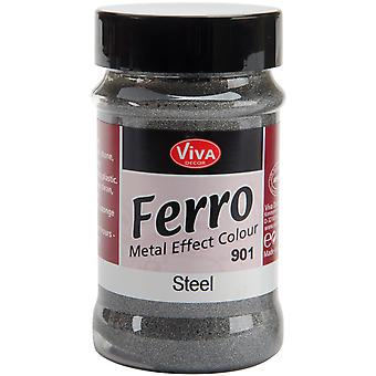 Ferro Metal Effect Textured Paint 3 Ounces Steel Vvferro 2901