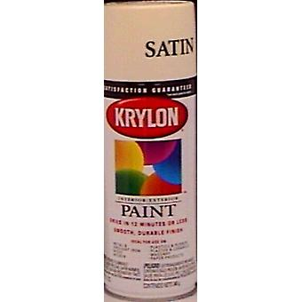 Indoor Outdoor Aerosol Paint 12 Ounces Satin Ivory 1000A 3510