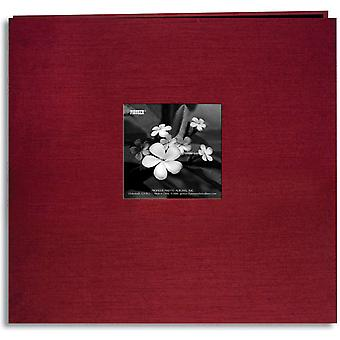 Silk Postbound Album With Photo Window 12