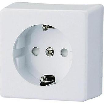 Surface-mount socket Child safety Polar white GA