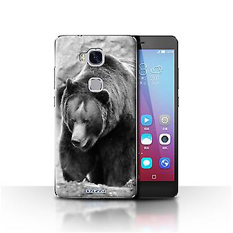 STUFF4 Case/Cover for Huawei Honor 5X/GR5/Bear/Mono Zoo Animals