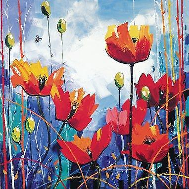 Daniel Campbell stampa - Poppies in Blue