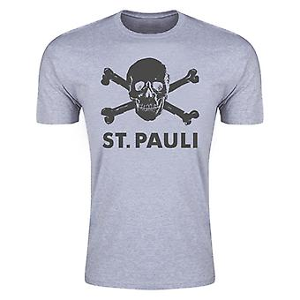 St Pauli Skull and Crossbones T-Shirt (Grey)