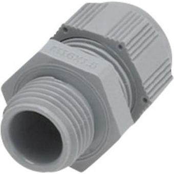 Cable gland with reducer seal inset, vibration-protected M32 Polyamide Grey (RAL 7001) Helukabel 1 pc(s)