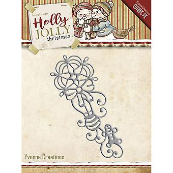Find It Trading Yvonne Creations Holly Jolly Die-Ornament YCD10071