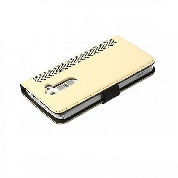 Zenus herringbone diary case cover for LG G2 - ivory