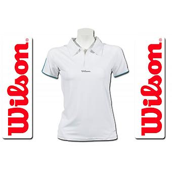 Wilson dames prestaties Polo Wit/aqua