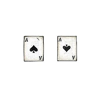 The Olivia Collection Sterling Silver Spade Playing Cards Stud Earrings