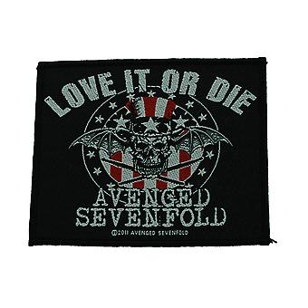 Avenged Sevenfold Love It Or Die Woven Patch