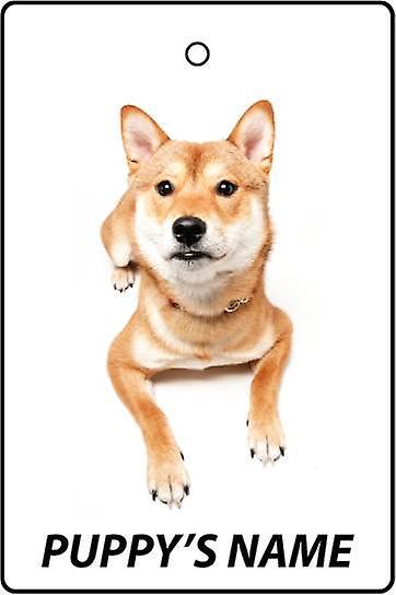 Ambientador de coche personalizado Shiba Inu cachorro