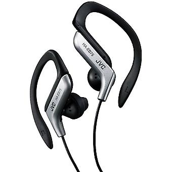 JVC Sports Ear Clip Headphones with Adjustable Clip - Silver (HAEB75S)