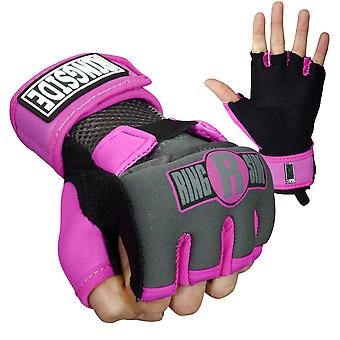 Ringside Gel Shock Boxing Glove Wraps - Pink/Black