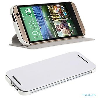 Oprindelige rock smart cover hvid for HTC one 2 M8 2014
