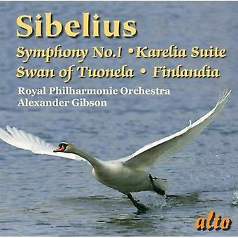 J. Sibelius - Sibelius: Symfoni nr 1; Kareliasviten; Swan i Tuonela; Finlandia [CD] USA import