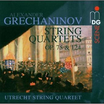 A. Grechaninov - Alexander Grechaninov: importación de USA de cuartetos de cuerda Opus 75 & 124 [CD]