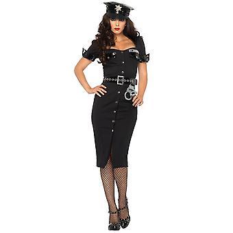 Lt Lockdown betjentes politibetjent Cop Uniform kvinder kostume