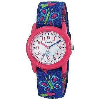 Timex Kids kvarts sommerfugler og hjerter klokke med hvit ring analog (T89001)