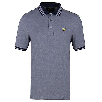 Lyle & Scott Navy Short Sleeve Oxford Polo Shirt