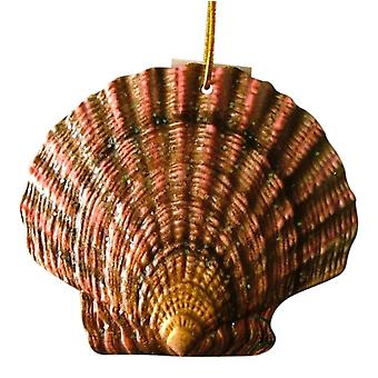 Tropical Beach Seashell Christmas Ornament mørke ORNShell11 harpiks 4 Inches