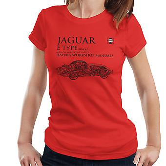 Haynes Workshop Manual 0140 Jaguar E Type 6 Cyl Black Women's T-Shirt