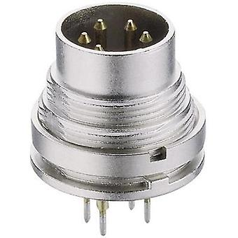 DIN connector Plug, vertical mount Number of pins: 5 Silver Lumberg SGR 50 1 pc(s)