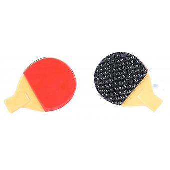 Boutons de manchette David Van Hagen Tennis de Table - jaune/rouge/noir
