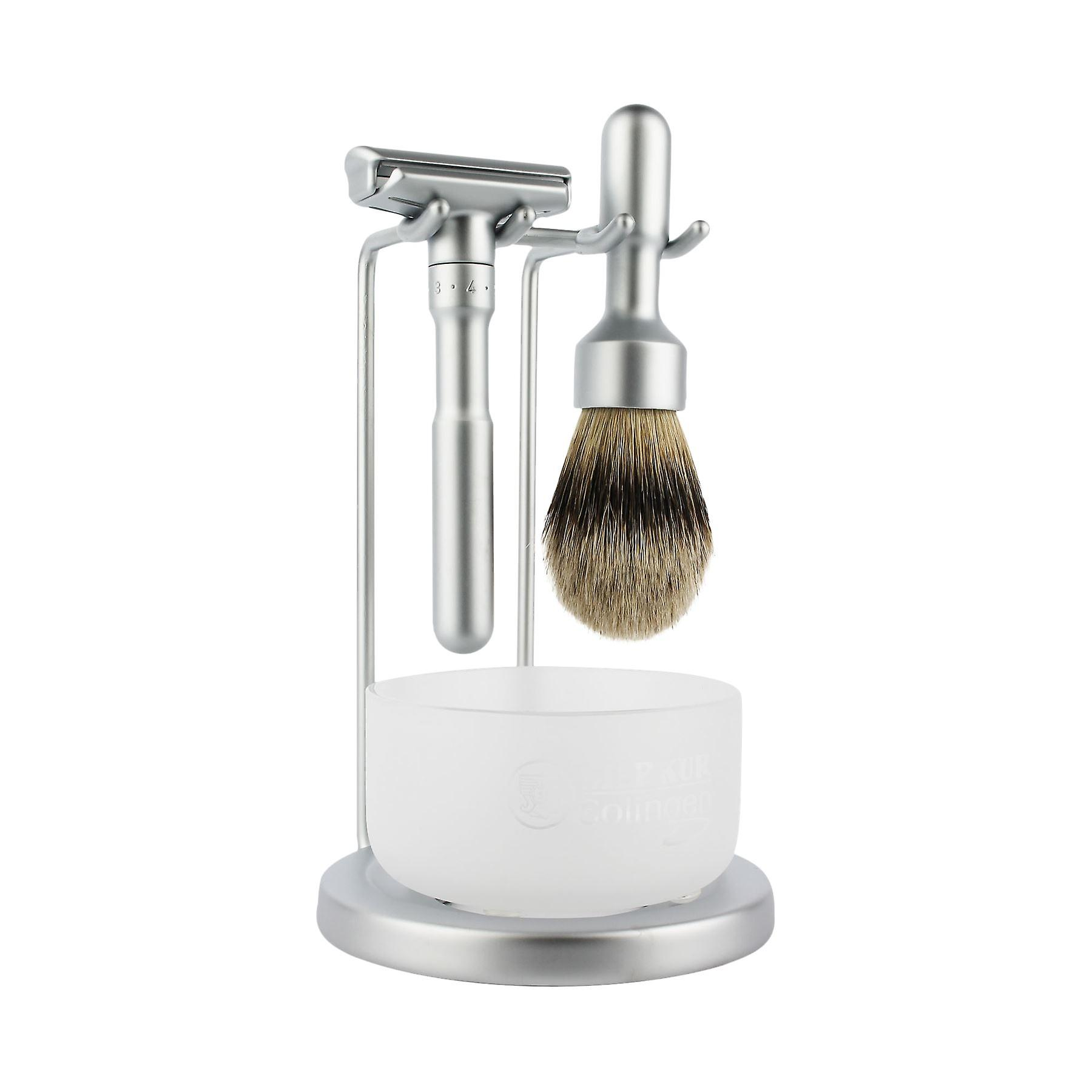 Merkur Futur Matt Satin 4-Piece Shaving Set (90 750 002)