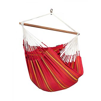 La Siesta Hanging Lounger chair Currambera Cherry CUL21-2