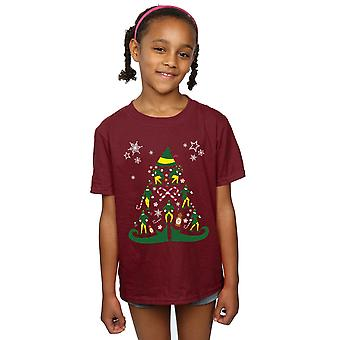Elf Girls Christmas Tree T-Shirt