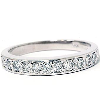 3 / 8ct Pave Diamant-Ring 14K Weissgold