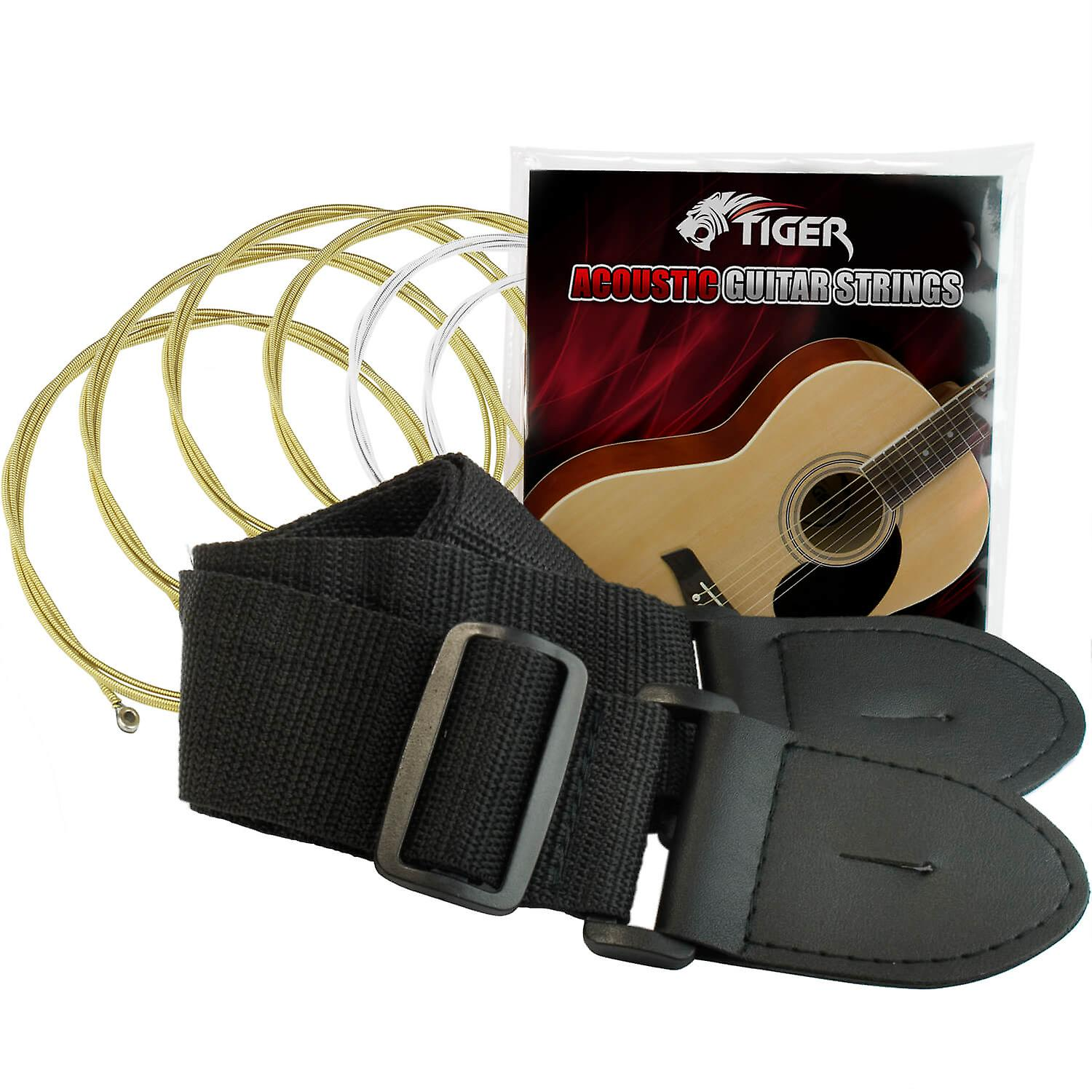 Tiger Acoustic Guitar Package for Beginners - Red