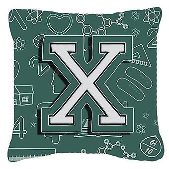 Буква X обратно в школу первоначальный холст ткани декоративные подушки
