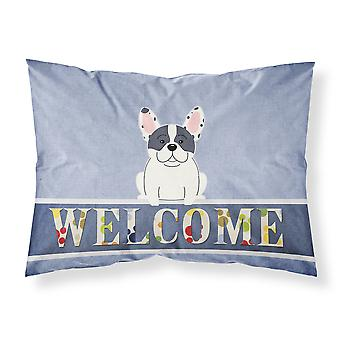 French Bulldog Piebald Welcome Fabric Standard Pillowcase