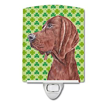 Redbone Coonhound Lucky Shamrock St. Patrick's Day Ceramic Night Light