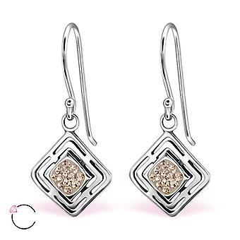 Square crystal from Swarovski® - 925 Sterling Silver Earrings