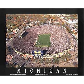 Michigan Stadium - University Of Michiga Poster Print by Mike Smith (28 x 22)