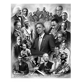 Great African Americans Men Poster Print by Wishum Gregory ( x 11)