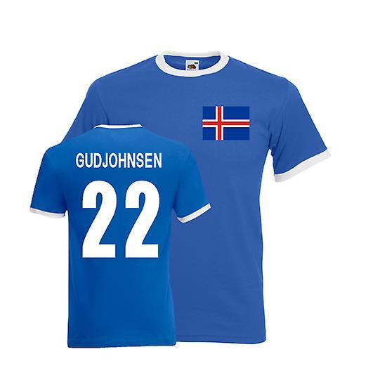 Eidur Gudjohnsen Islandia Camiseta del campanero (azul)