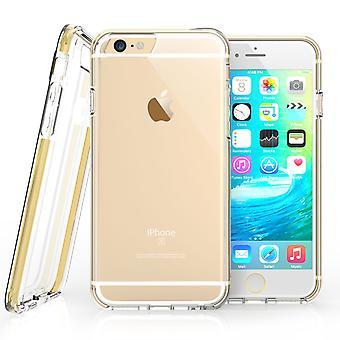 Caseflex Iphone 6 en 6s versterkt TPU Gel Case - goud
