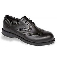 V12 VC100 Diplomat Black Executive Brogue Shoe EN20345:2011-S1 Size 9