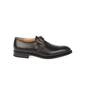 Church's men's BECKETCALFBLACK black leather lace-up shoes