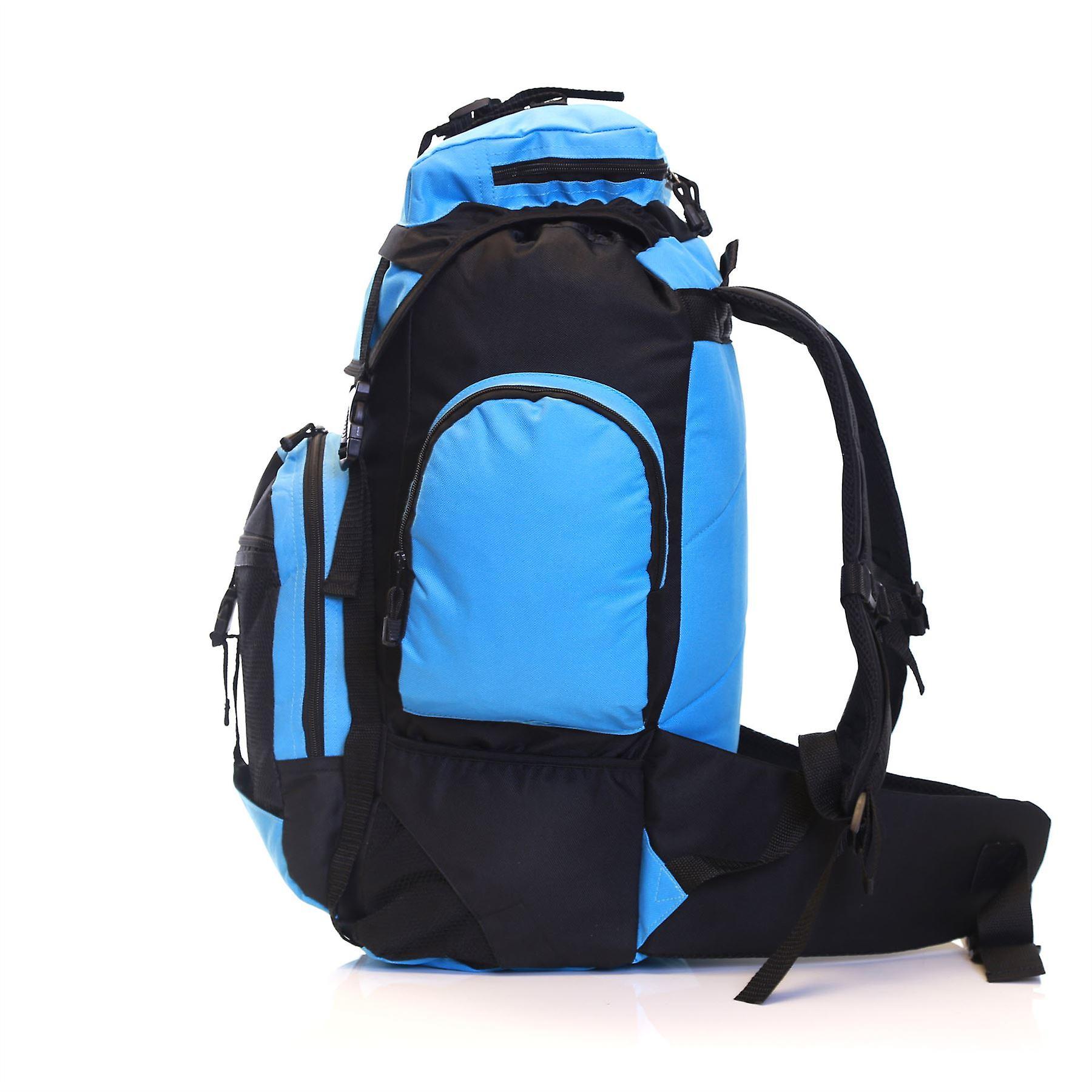 Slimbridge Knott 45 Litre Hiking Backpack, Black/Sky Blue