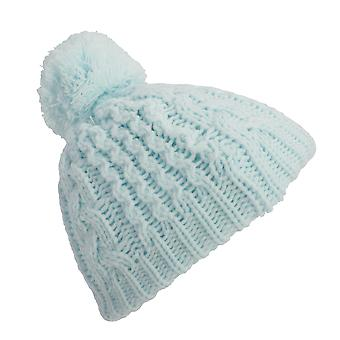 Baby Boys/Girls Cable Knit Winter Beanie Hat With Pom Pom