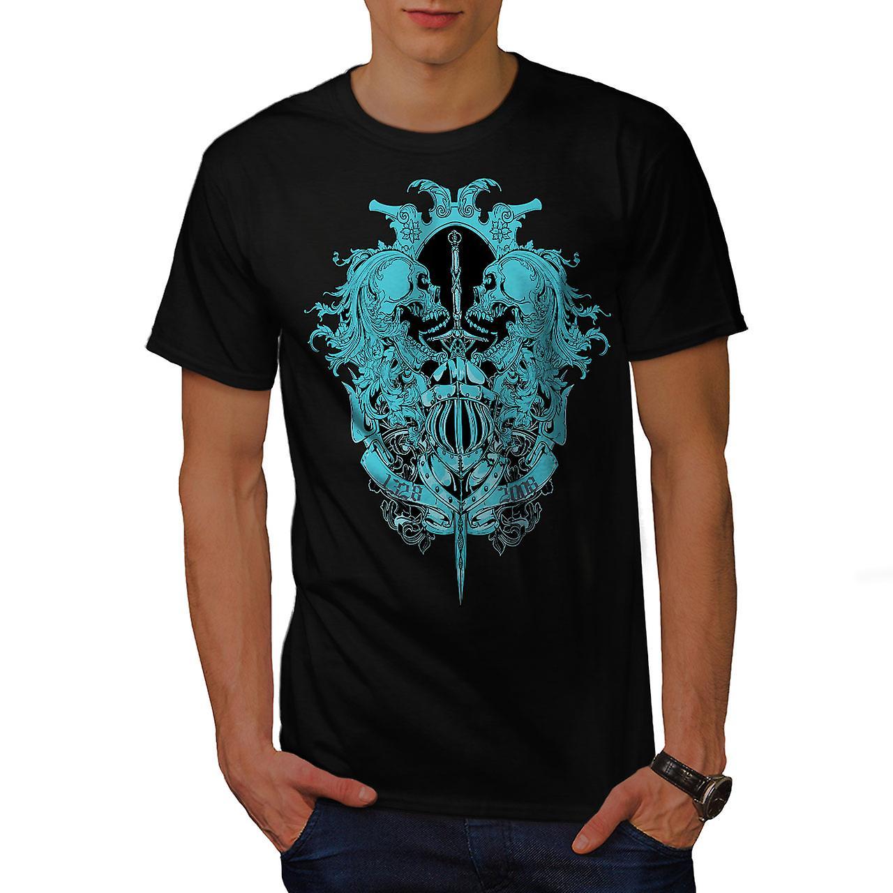 Ghost Skull Dead Vintage Men Black T-shirt | Wellcoda