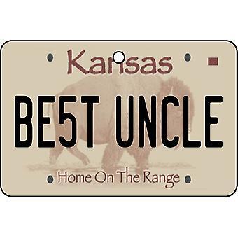 Kansas - beste oom License Plate auto luchtverfrisser