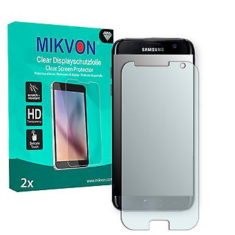 Samsung Galaxy S7 Screen Protector - Mikvon Clear (Retail Package with accessories) (intentionally smaller than the display due to its curved surface)