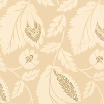 Sanderson Cream Wallpaper Roll - Floral Ariel Design - Colour: DAMPAE105