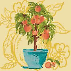 Peach Tree Needlepoint Canvas