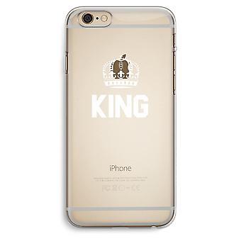 iPhone 6 Plus / 6S más transparente del caso (suave) - rey negro