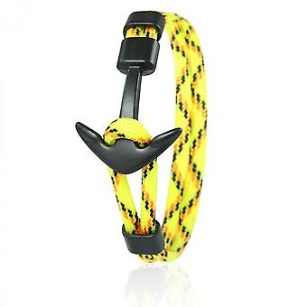 Skipper anchor bracelet 21 cm nylon bracelets in yellow/colored with black anchor 6966